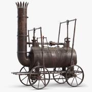 오래된 증기 기관차 3d model