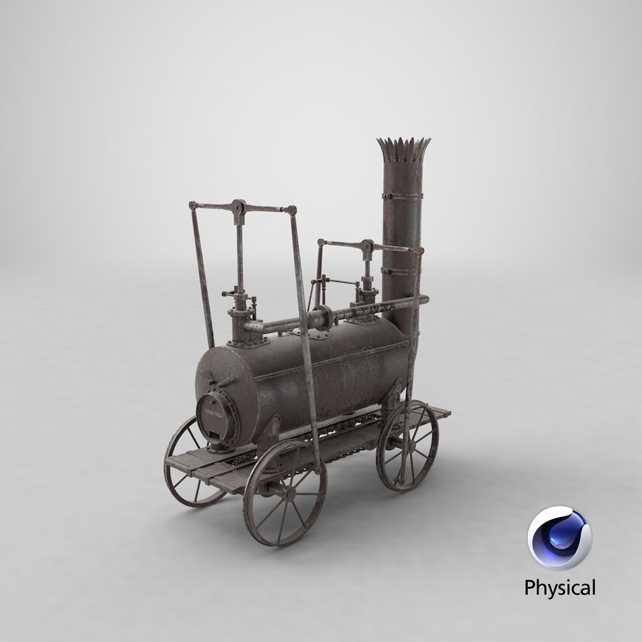 古い蒸気機関車 royalty-free 3d model - Preview no. 27