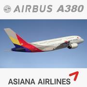 A380 Asiana Airines 3d model