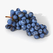 Grapes Lying Realistic 03 3d model
