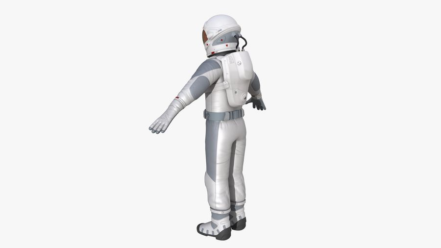 Space suit royalty-free 3d model - Preview no. 5