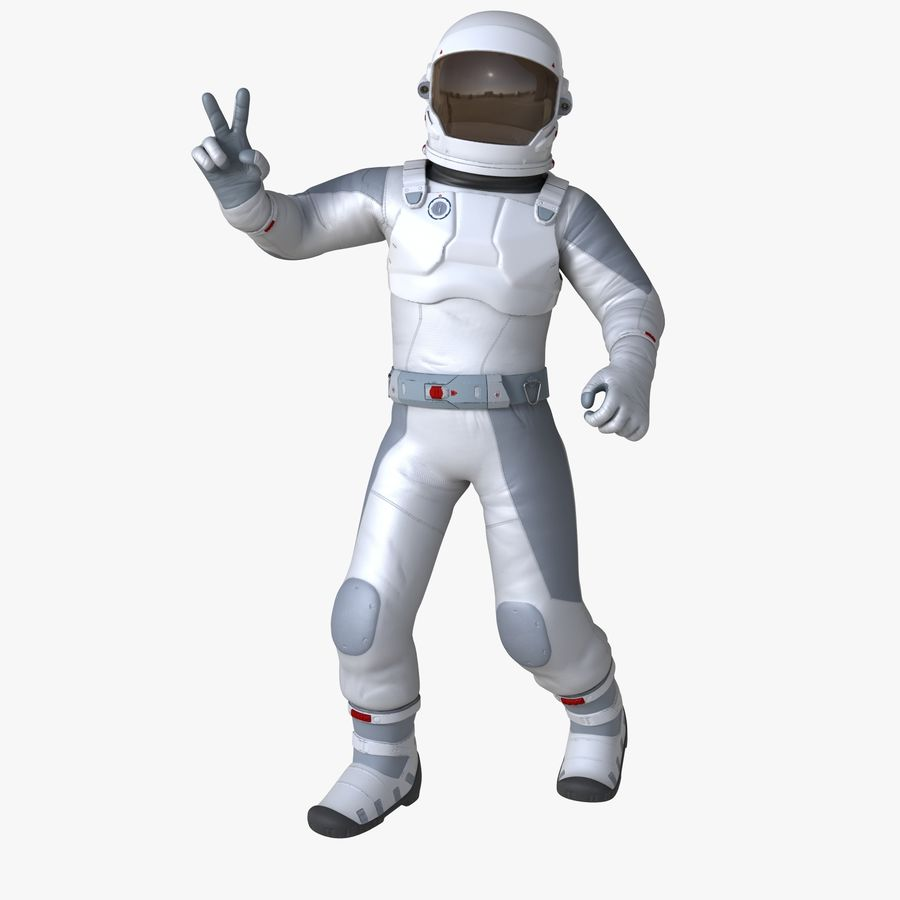 Space suit royalty-free 3d model - Preview no. 1