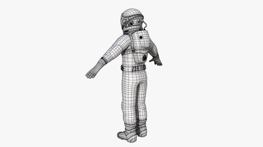 Space suit royalty-free 3d model - Preview no. 16