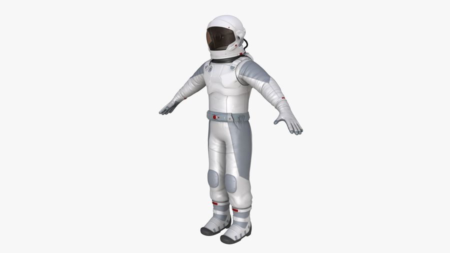 Space suit royalty-free 3d model - Preview no. 4