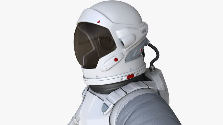 Space suit royalty-free 3d model - Preview no. 11