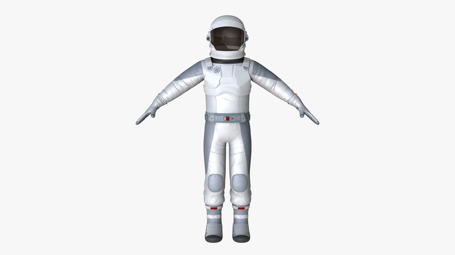 Space suit royalty-free 3d model - Preview no. 3