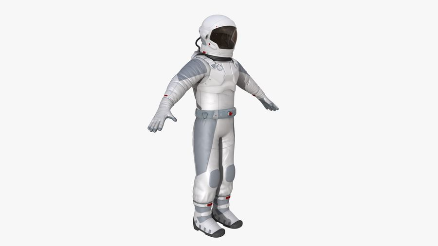 Space suit royalty-free 3d model - Preview no. 8