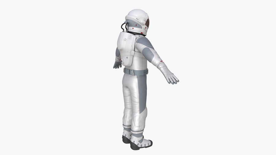 Space suit royalty-free 3d model - Preview no. 7