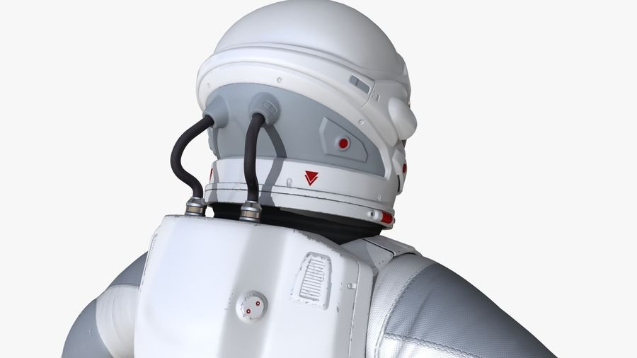 Space suit royalty-free 3d model - Preview no. 12
