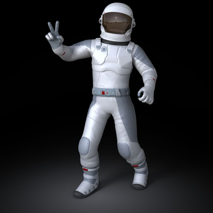 Space suit royalty-free 3d model - Preview no. 2