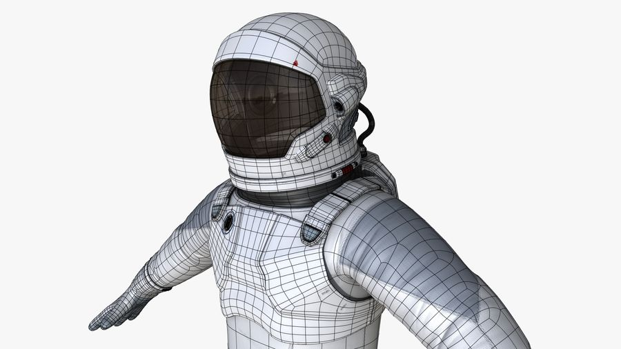 Space suit royalty-free 3d model - Preview no. 20