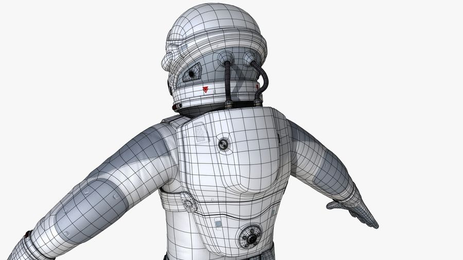 Space suit royalty-free 3d model - Preview no. 21