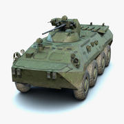 BTR-80A Low-Poly (LOD) 3d model