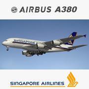 A380 Singapur Havayolları 3d model