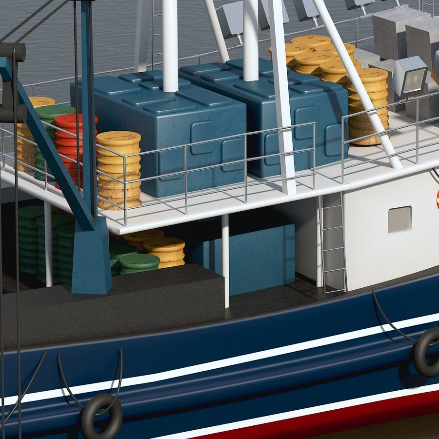 Fishing Boat royalty-free 3d model - Preview no. 15