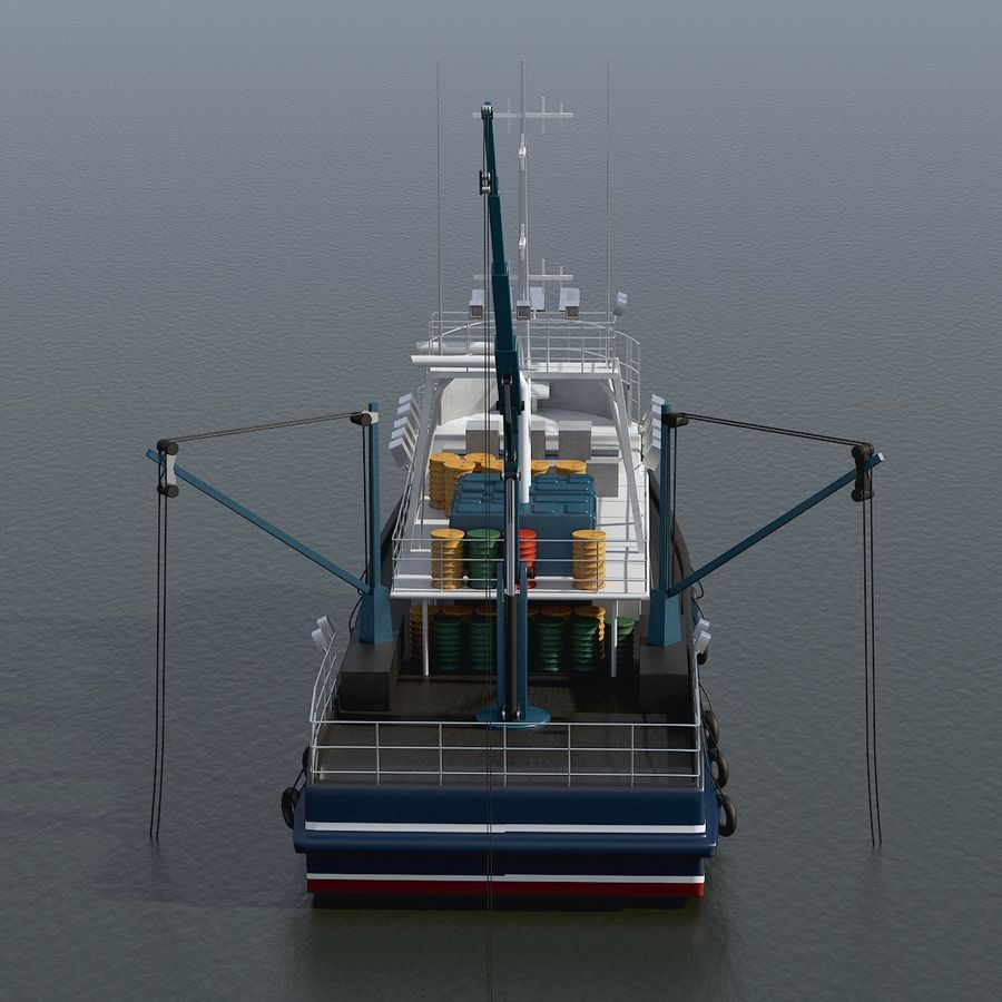 Fishing Boat royalty-free 3d model - Preview no. 14