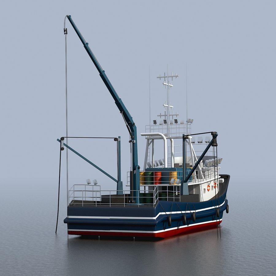 Fishing Boat royalty-free 3d model - Preview no. 12
