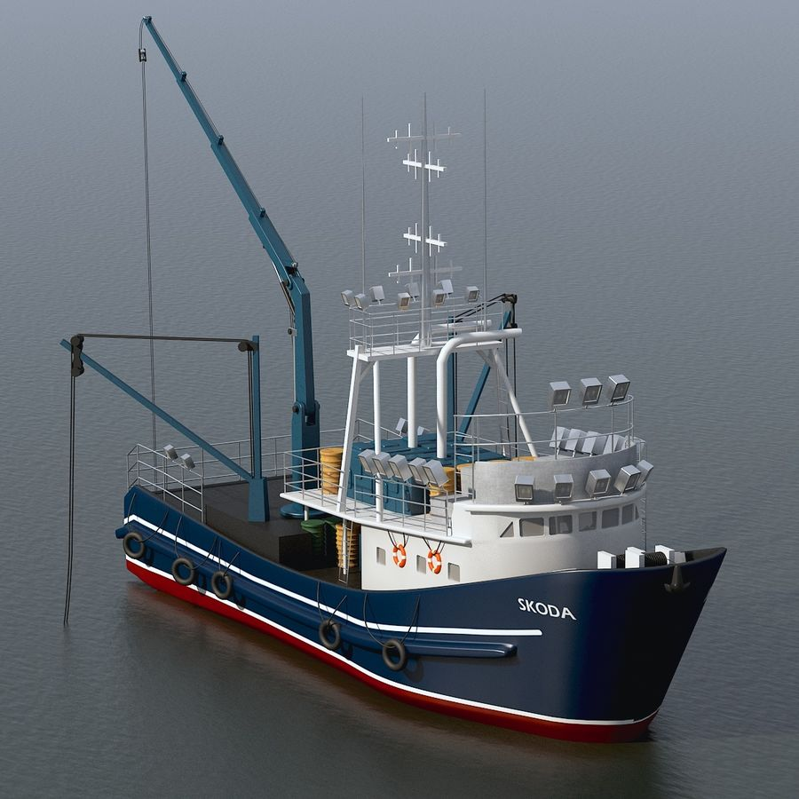 Fishing Boat royalty-free 3d model - Preview no. 2