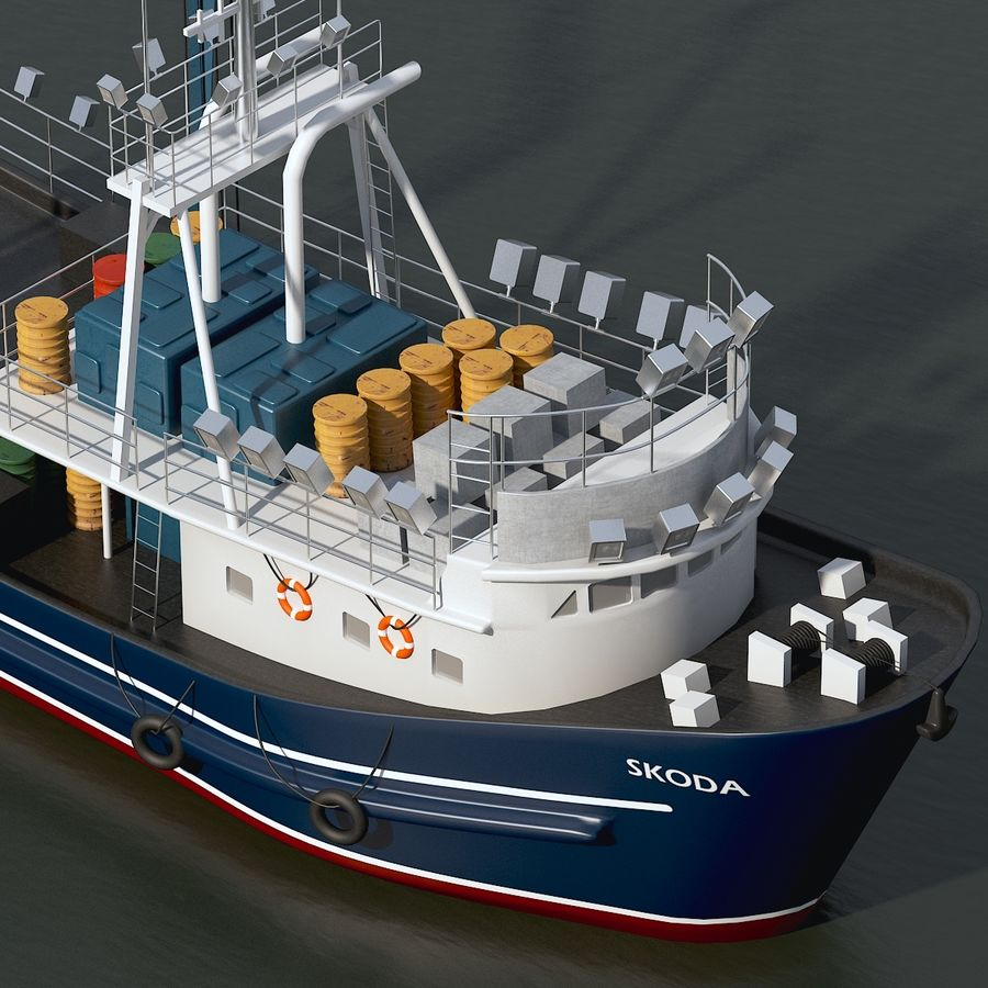 Fishing Boat royalty-free 3d model - Preview no. 4