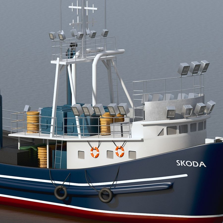Fishing Boat royalty-free 3d model - Preview no. 5