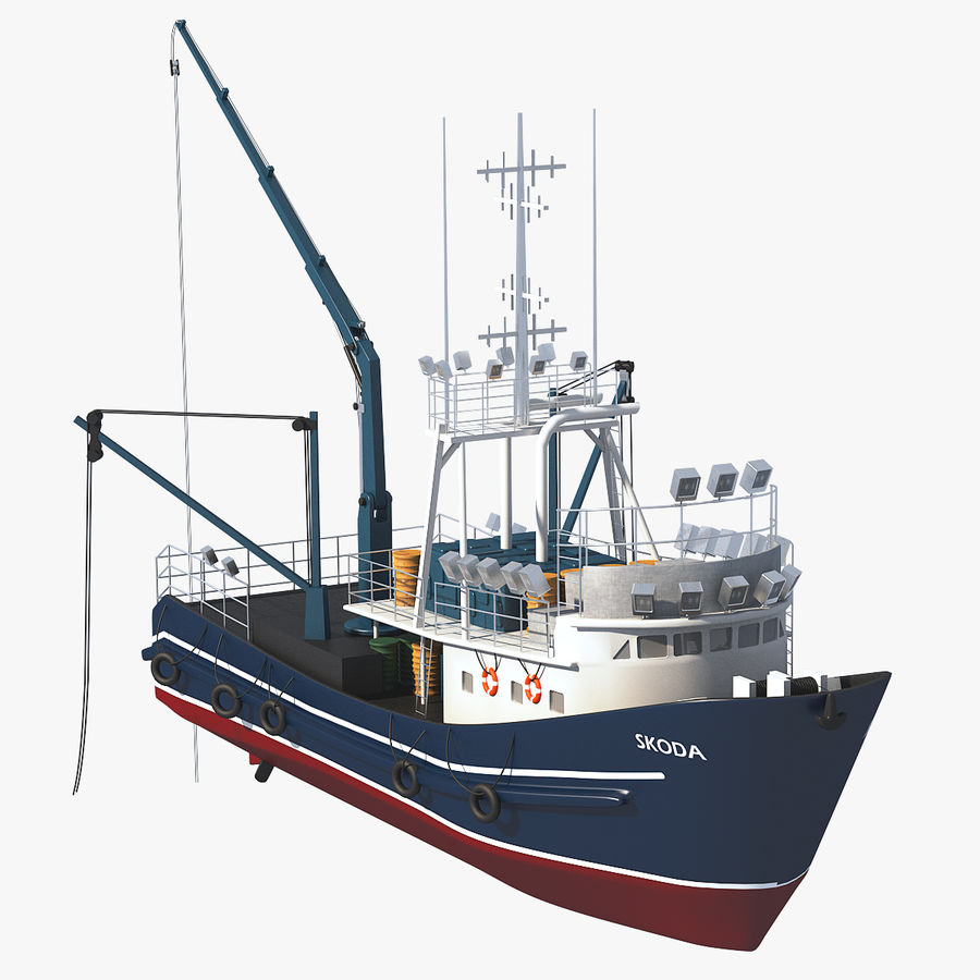 Fishing Boat royalty-free 3d model - Preview no. 1