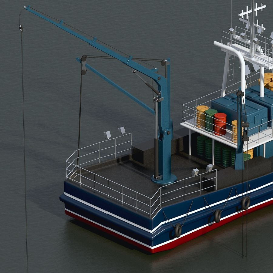 Fishing Boat royalty-free 3d model - Preview no. 16
