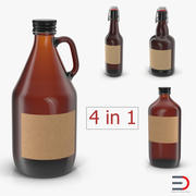 Cold Brew Bottles Collection 3d model