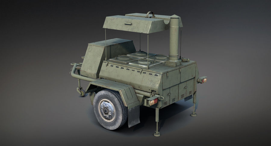 KP-130フィールドキッチン royalty-free 3d model - Preview no. 5