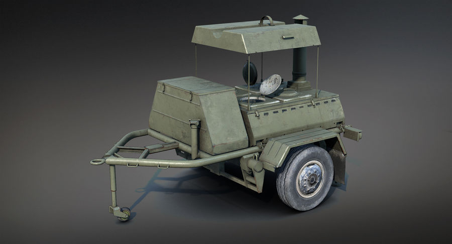 KP-130フィールドキッチン royalty-free 3d model - Preview no. 3