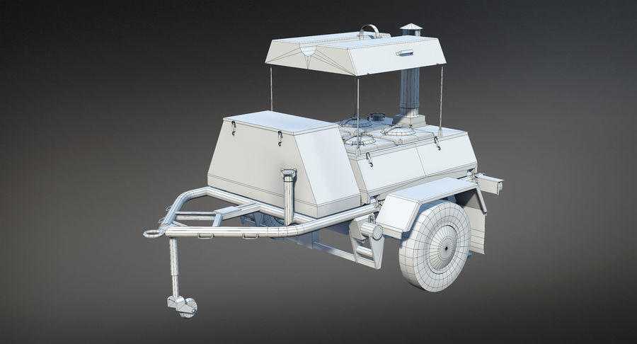 KP-130フィールドキッチン royalty-free 3d model - Preview no. 11