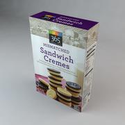 Mismatched Sandwich Cremes Cookies 3d model