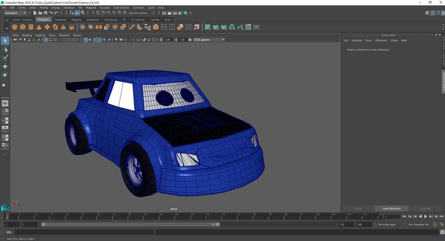 Cartoon Car royalty-free 3d model - Preview no. 9