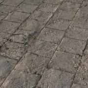 石のタイルの現実的な地面 3d model