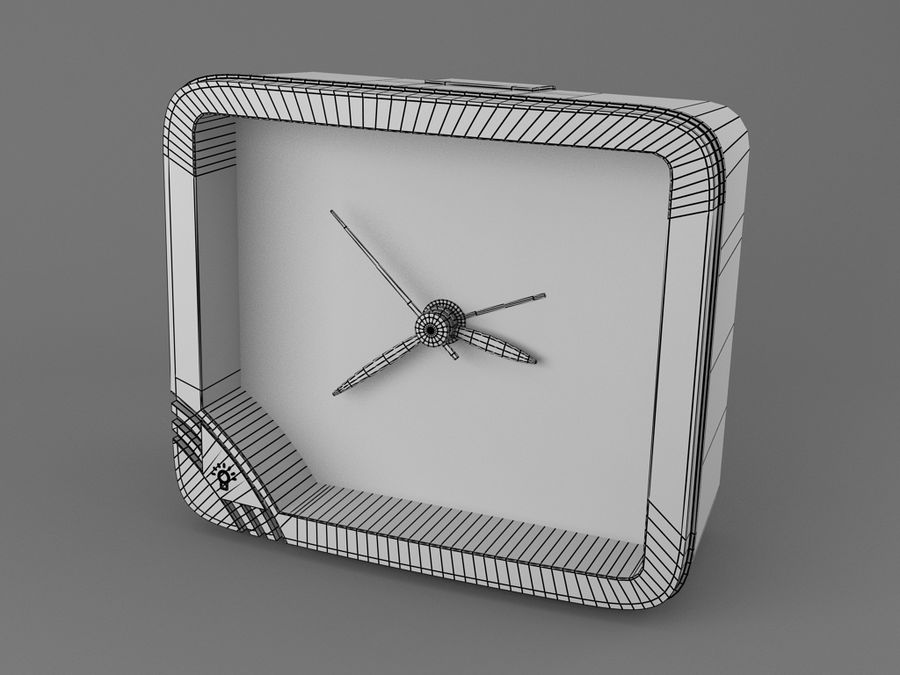 Reloj de mesa royalty-free modelo 3d - Preview no. 4