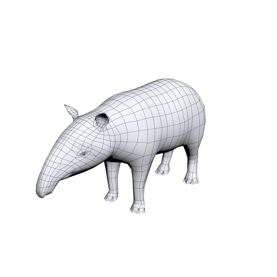 Tapir 3D Base mesh royalty-free 3d model - Preview no. 3