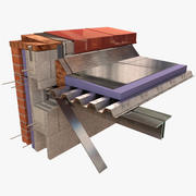 Architectural Detail - Roof - Metal Coping 3d model
