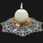 Candlestick on Doily 3d model