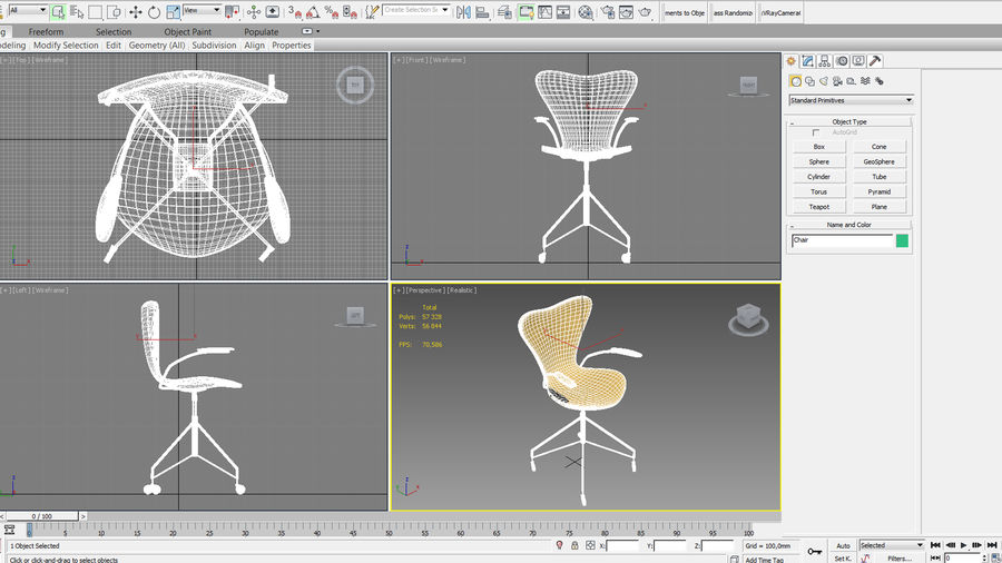 Computer Chair royalty-free 3d model - Preview no. 15