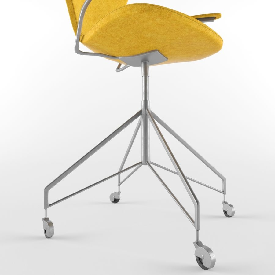 Computer Chair royalty-free 3d model - Preview no. 7