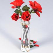 Vase mit Rosen 3d model