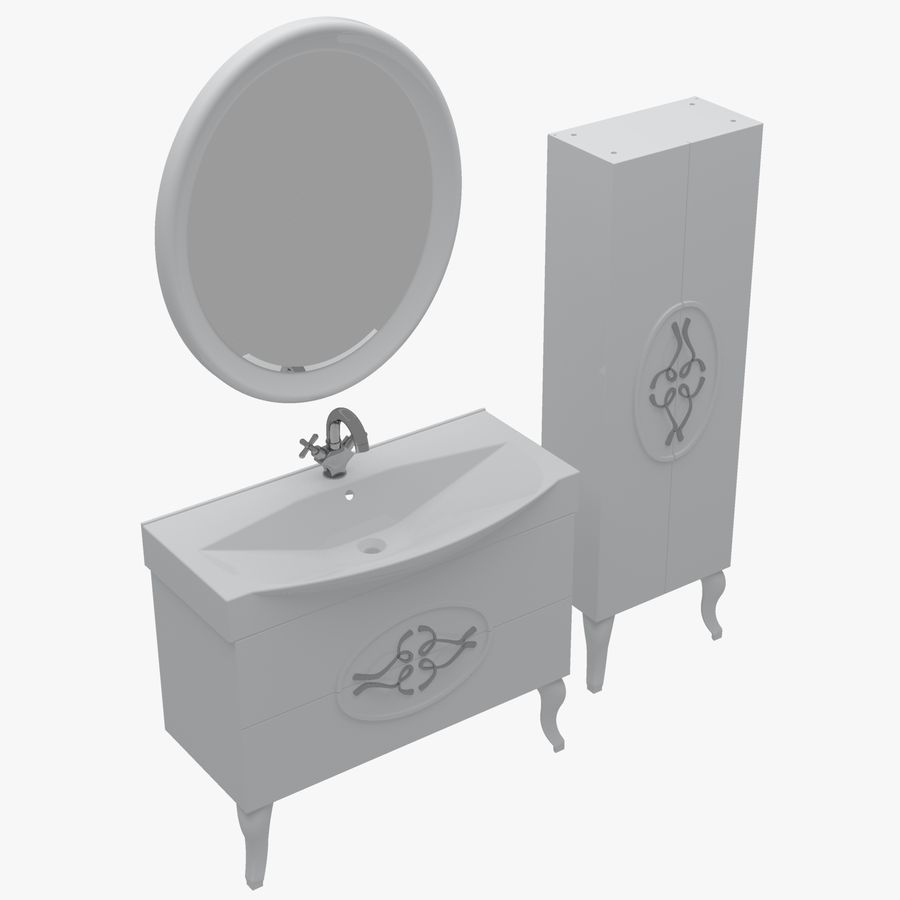Bathroom Furniture 129 royalty-free 3d model - Preview no. 1