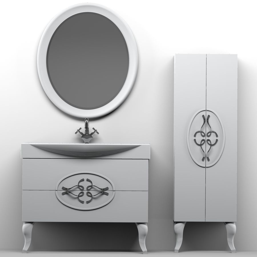 Bathroom Furniture 129 royalty-free 3d model - Preview no. 6