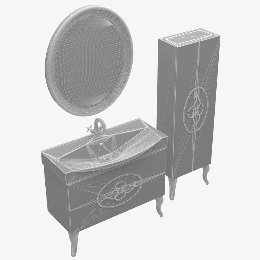 Bathroom Furniture 129 royalty-free 3d model - Preview no. 2