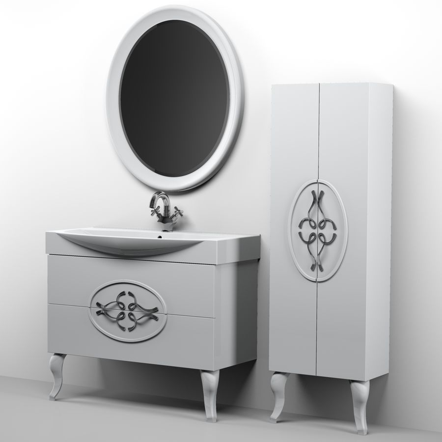 Bathroom Furniture 129 royalty-free 3d model - Preview no. 8
