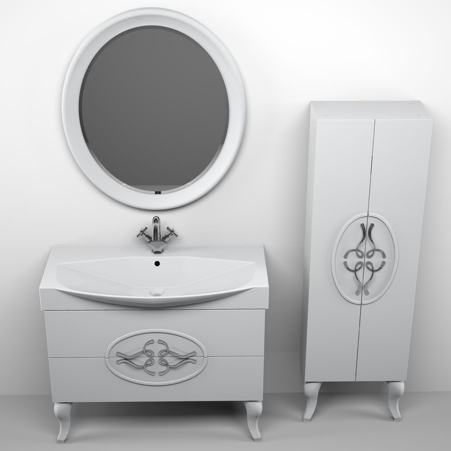 Bathroom Furniture 129 royalty-free 3d model - Preview no. 7