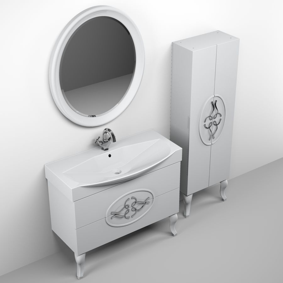 Bathroom Furniture 129 royalty-free 3d model - Preview no. 4