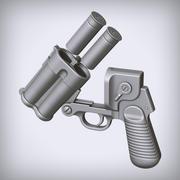 Concetto di pistola lanciarazzi 3d model