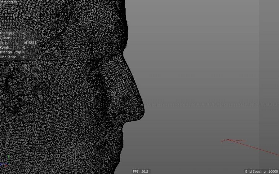 Super Man Bust para impresora 3D royalty-free modelo 3d - Preview no. 7