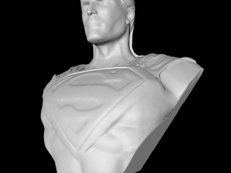 Super Man Bust para impresora 3D royalty-free modelo 3d - Preview no. 4
