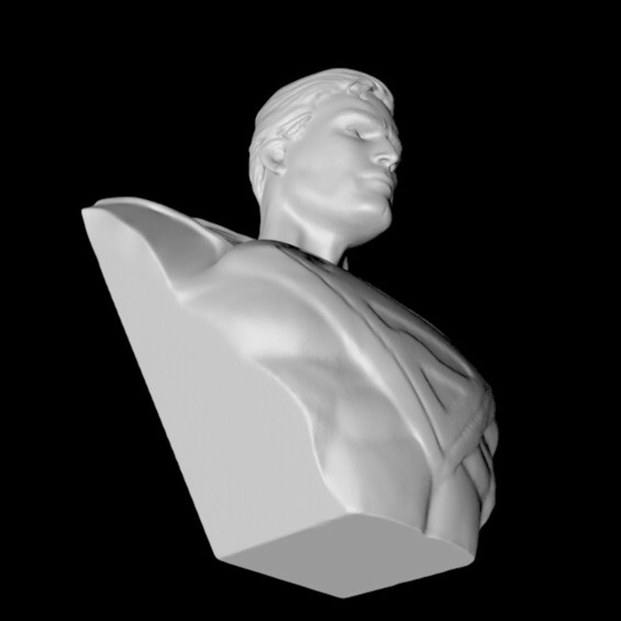 Super Man Bust para impresora 3D royalty-free modelo 3d - Preview no. 5